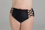 High Bikini Briefs Czarna Mamba