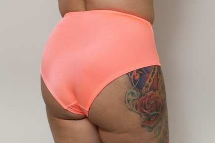 High Bikini Briefs Peach on the Beach